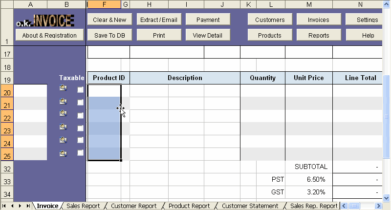 Sample Excel Templates